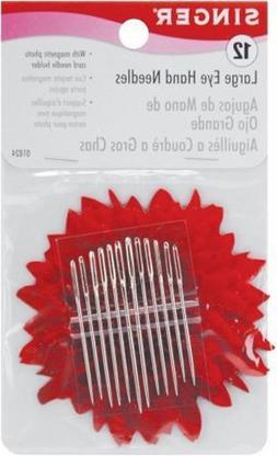 Singer 01824 Large Eye Hand Needles Wiht Magnetic Needle Hol