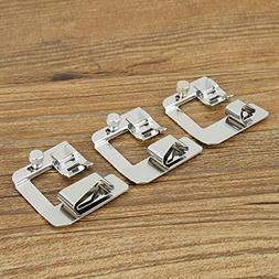 KINGSO 3 Sizes Sewing  Presser Feet  1/2'',3/4'',1'' Rolled