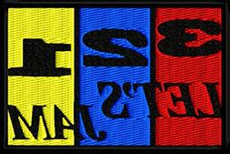 3 2 1 Let's Jam Anime Iron On Patch Applique - Yellow, Blue,