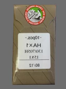 10 80/12 SHARP ORGAN FLAT SHANK 15X1 HAX1 130/705 HOME SEWIN