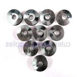 10 Metal Bobbins #SA159 For Home Sewing Machines - Babylock,