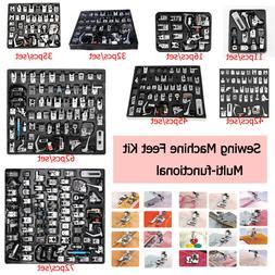 11-72pcs/set Domestic Sewing Machine Presser Foot Feet Kit f
