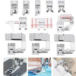 11pcs/set Household Spare Parts Cloth Edge Presser Foot Univ