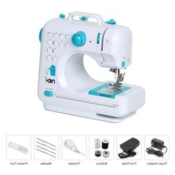 With 12 Built-In Stitches  Free-Arm Sewing Machine Blue NEX