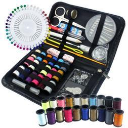 134Pc Travel Home Sewing Kit Case Needle Thread Tape Scissor