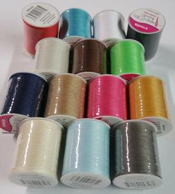 15 Spools Sewing Thread Polyester Assorted Colors 200 yards