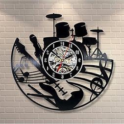 Shinestore 2018 Hot CD Vinyl Record Wall Clock Modern Design
