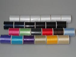 24 Polyester Sewing Thread Spools 200 Yards Each HOT New Col