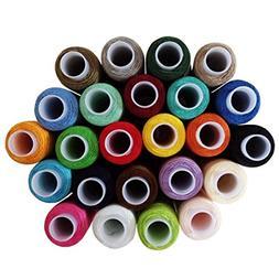 Cutegirl 24 Colour Spools Finest Quality Sewing Cotton Threa