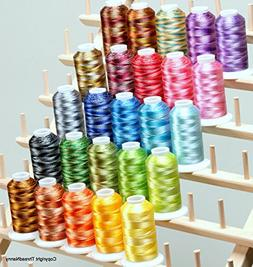 25 LARGE Cones Variegated Embroidery Machine Thread 40wt 110