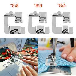 3 Sizes Rolled Hem Pressure Foot Sewing Machine Presser Foot