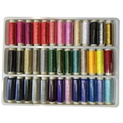 39pcs/lots Assorted Colours Hand Machine Polyester Sewing Th