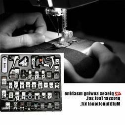 42 PCS Sewing Machine Presser Foot Feet Domestic Tool Kit Se