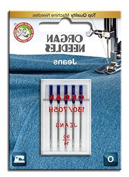 Organ Needles 4964832350510 Jeans Needles #90/14 Jeans X 5 N