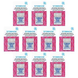 50 SchmetzQuilting Sewing Machine Needles -Assorted si