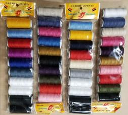 50 Spools Sewing Thread Polyester Assorted Colors 200 yards