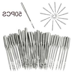 50Pcs 11//75+12//80+14//90+16//100+18//110 Assorted Home Sewing Machine Needles-Craft