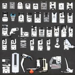 52PCS Sewing Machine Presser Foot Feet Tools Kit Set For Bro