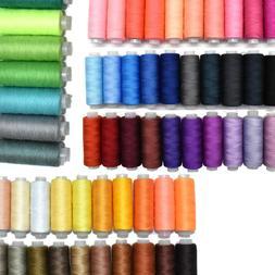 60 Colors Set Lot Of Assorted Spools Cotton Sewing Thread Ha