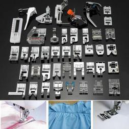 62 PCS Sewing Machine Presser Foot Feet Tool Kit Set For Bro