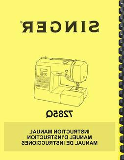 Singer 7285Q Patchwork Sewing Machine OWNER'S INSTRUCTION MA