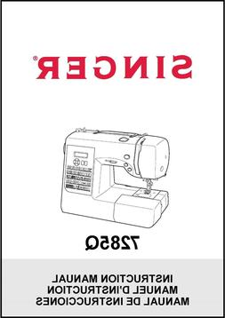 Singer 7285Q Sewing and Quilting Machine Instruction Manual