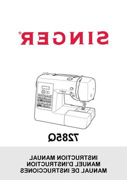 Singer 7285Q Sewing Machine User Manual Instructions SPIRAL
