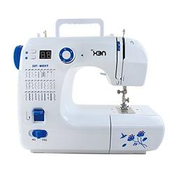 NEX NE-CS114WBL Featured Portable Sewing Machine White/Blue