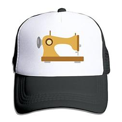 Unisex Sewing Machine Casual Running Caps Hat Black