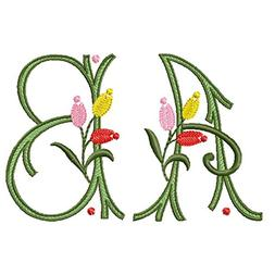 ThreaDelight ABC Machine Embroidery Designs Set - Tulip Kiss