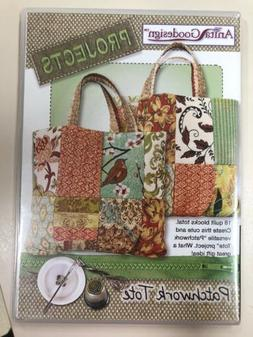 Anita Goodesign Projects Embroidered Patchwork Tote PROJ85
