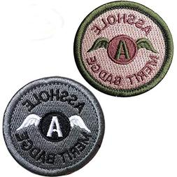 Asshole Merit Badge Military Tactical Morale Funny Patches H