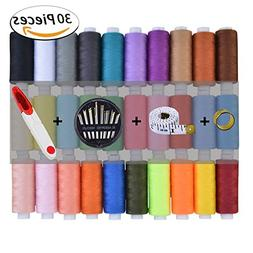 Nanooer 30 60 Assorted Color Polyester Sewing Thread Spools