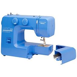 Janome Blue Couture Easy-to-Use Sewing Machine with Interior