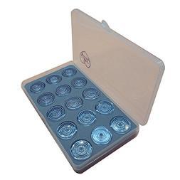 HONEYSEW Box Of 15 Bobbins Plastic For Singer 1425N 1425U 60