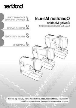 brother ce1100prw sewing machine owners instruction reprint