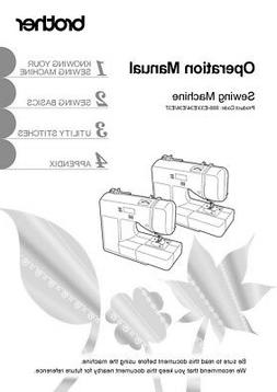 Brother CE1125PRW Sewing Machine Owners Instruction Manual R