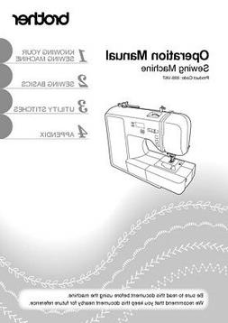 Brother CE8100 Sewing Machine Owners Instruction Manual Repr