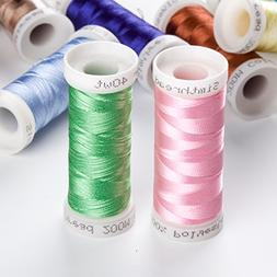 200 Meters Brother Colors Embroidery Machine Thread for Begi