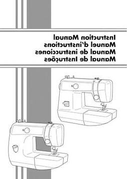Brother LS 2125 Sewing Machine Owners Instruction Manual Rep