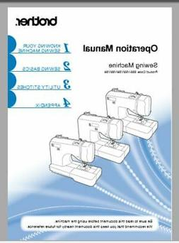 Brother SQ9185 Sewing Machine Instruction Manual Users Guide