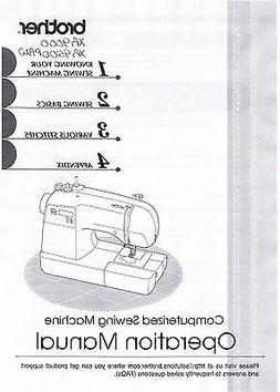 Brother XR9000 XR9500PRW Sewing Machine User Guide Owner Ins