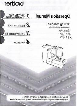 Brother XS2070 XS2080 XS2100 Sewing Machine Users Guide Inst