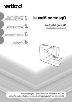 Brother XS2100 Sewing Machine Owners Instruction Manual Repr