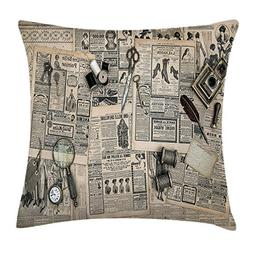 vhg8dweh Clock Decor Throw Pillow Cushion Cover, Antique Acc