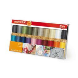 20 Spools-Basics Gutermann Cotton 50 Thread Set