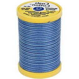 Cotton Machine Quilting Thread, Multicolor 225yd, Blue Cloud