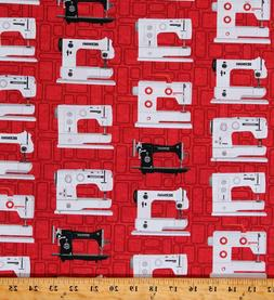 Cotton Sewing Machines Vintage Sewing Bernina Red Fabric Pri