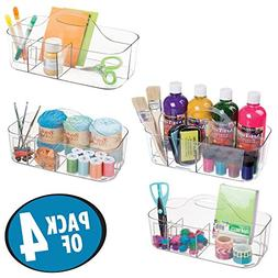 mDesign Craft Storage Organizer Caddy Tote, Portable Divided