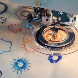 Daisy Flower Stitch Sewing Machine Presser Foot For Babylock